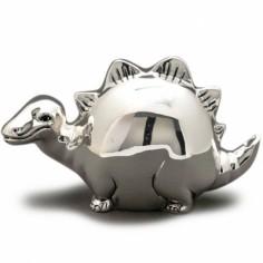 Tirelire Dinosaure (m�tal argent�) - Orf�vrerie de Cr�vigny
