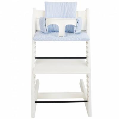 assise blue stripe pour chaise haute stokke tripp trapp. Black Bedroom Furniture Sets. Home Design Ideas