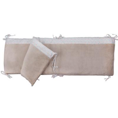 tour de lit complet etoiles 372 x 30 cm trousselier. Black Bedroom Furniture Sets. Home Design Ideas