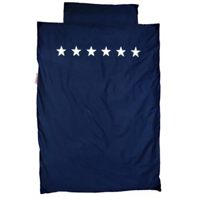 Housse de couette et taie d 39 oreiller etoiles bleu fonc for Housse de couette garcon 140x200