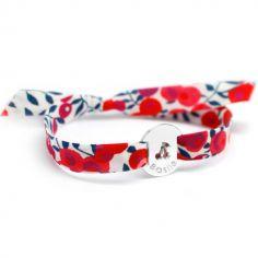 Bracelet Liberty cerise (argent 925�) - Petits tr�sors