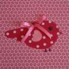 Tableau Candy Colours Bye Bye Birdie rouge et rose (20 x 20 cm) - Moepa