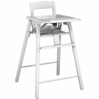 chaise haute en bois pliante blanche jurababy. Black Bedroom Furniture Sets. Home Design Ideas