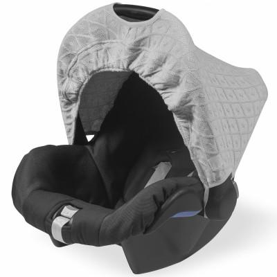 capote pour maxi cosy diamond knit grise jollein. Black Bedroom Furniture Sets. Home Design Ideas