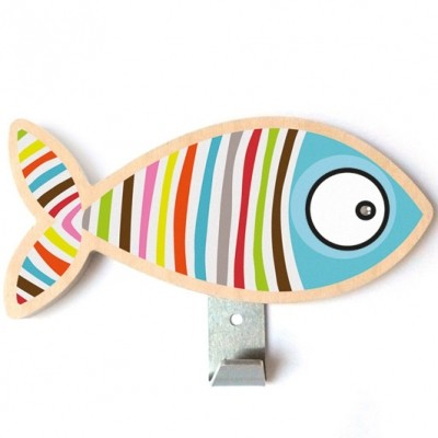 Patère poisson rayé