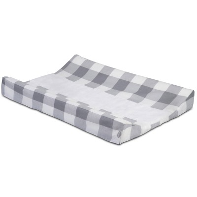 housse de matelas langer carreaux gris 50 x 70 cm. Black Bedroom Furniture Sets. Home Design Ideas