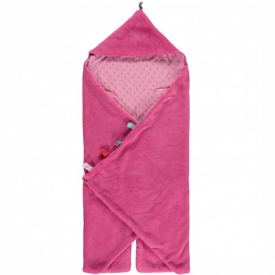 Couverture nomade trendy wrapping funky pink