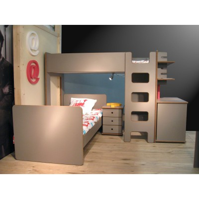 pack duo chambre enfant david lit surlev et lit enfant. Black Bedroom Furniture Sets. Home Design Ideas