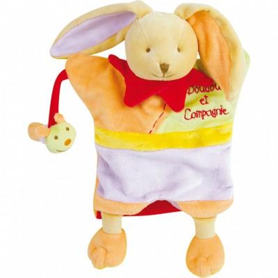 Doudou marionnette paulin le lapin