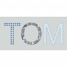 Tableau gar�on Paisley personnalisable 3 Lettres (40 x 20 cm) - Home corner