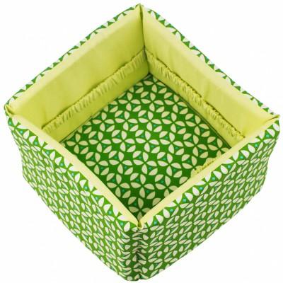 corbeille en tissu geo green trixie baby berceau magique. Black Bedroom Furniture Sets. Home Design Ideas