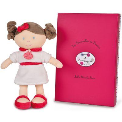 Mademoiselle Blanche Rose Les demoiselles de doudou rose (30 cm)