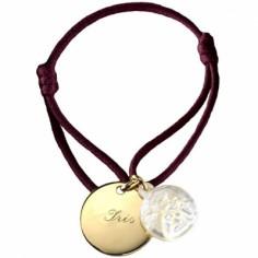 Bracelet cordon Ange (plaqu� or et nacre) - Petits tr�sors