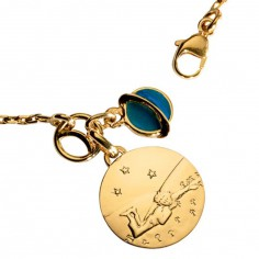 Bracelet Petit Prince couch� dans l'herbe (or jaune 750 � et email) - La Monnaie de Paris