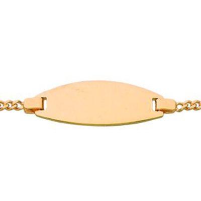 Gourmette b�b� plaque tonneau (or jaune 375�) - Berceau magique bijoux