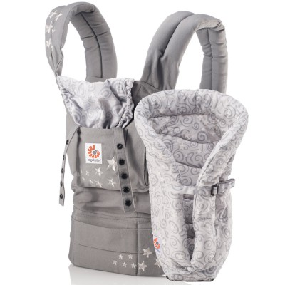 Pack évolutif original gris cosmique (porte-bébé et coussin)