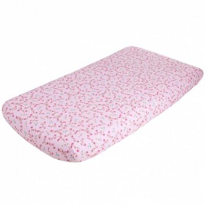 Drap housse fleurs pink blossom (40 x 80 cm)