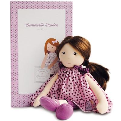 poupe en tissu les demoiselles coiffer violette 40 cm. Black Bedroom Furniture Sets. Home Design Ideas