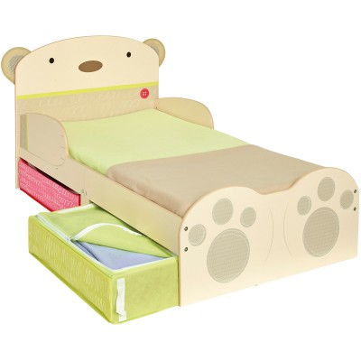 lit enfant avec rangement ours clin 70 x 140 cm. Black Bedroom Furniture Sets. Home Design Ideas