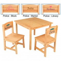 Ensemble table et 2 chaises enfant Aspen en bois naturel personnalisable - KidKraft