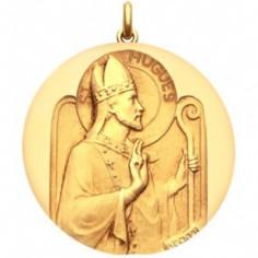 M�daille Saint Hugues (or jaune 750�)