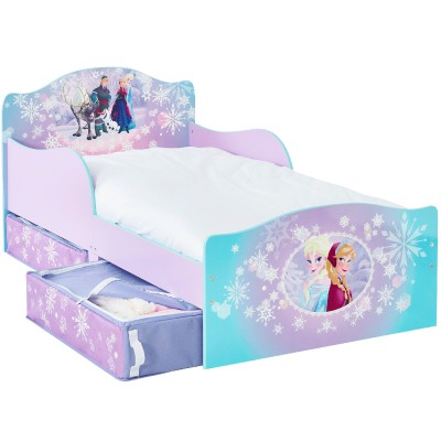 lit enfant avec rangement la reine des neiges 70 x 140 cm. Black Bedroom Furniture Sets. Home Design Ideas