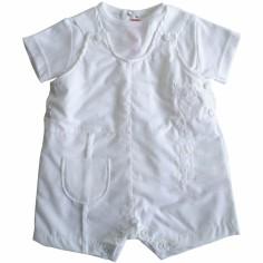 Tenue de bapt�me blanche barboteuse (3 mois) - Nice Kids