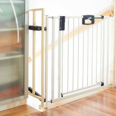 Barrière de sécurité pour escaliers easy lock blanc métal (84 à 92,5 cm)