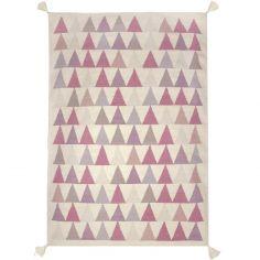 Tapis fille Kilim rose triangles (140 x 200 cm) - Art for Kids