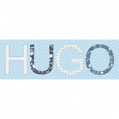 Tableau gar�on Paisley personnalisable 4 Lettres et plus (60 x 20 cm) - Home corner