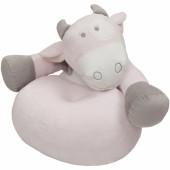 Pouf sofa Lola la vache rose, taupe - Noukie's