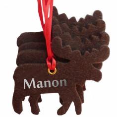 Kit d�coration de No�l en feutrine rennes marrons - Les Griottes