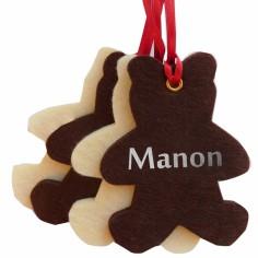 Kit de d�coration de No�l en feutrine oursons marrons et blancs - Les Griottes