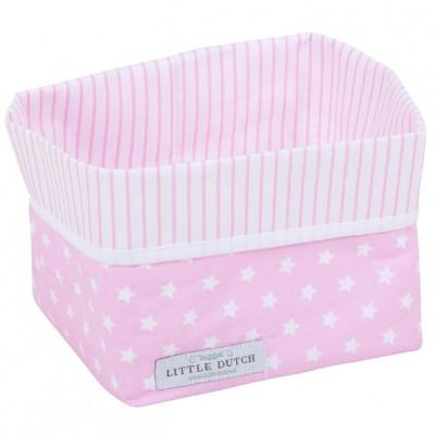 panier de rangement rose toil e petit mod le little dutch corbeille en tissu berceau. Black Bedroom Furniture Sets. Home Design Ideas