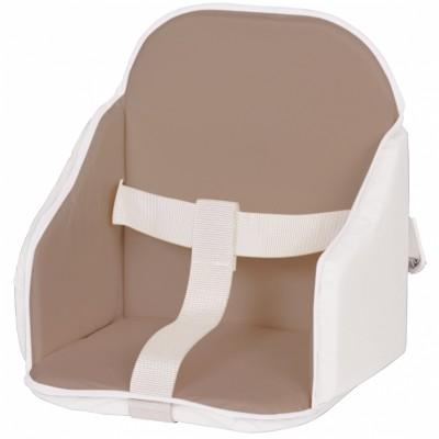 Coussin de chaise à sangles taupe et blanc