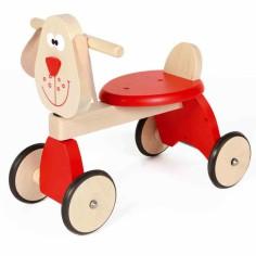 Porteur chien rouge