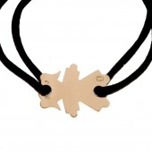 Bracelet cordon petite fille 20 mm (or jaune 750�) - Loupidou