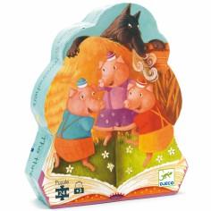 Puzzle Les trois Petits cochons (24 pi�ces) - Djeco