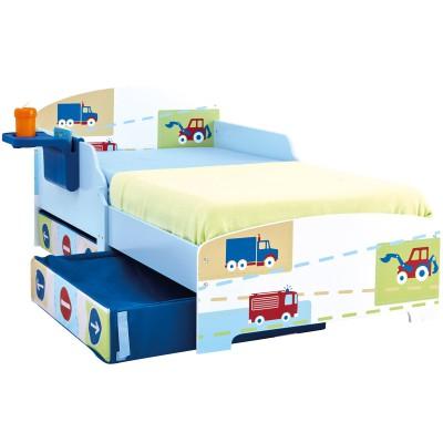 lit enfant avec rangement v hicules 70 x 140 cm. Black Bedroom Furniture Sets. Home Design Ideas