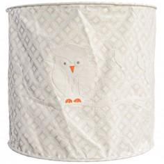 Suspension lampion en tissu Hibou blanc - Taftan