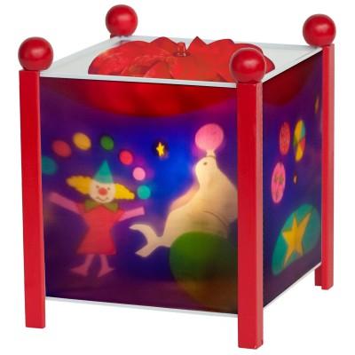 Lanterne magique cirque rouge
