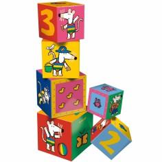 Cubes gigognes Mimi la Souris  (6 cubes) - Petit Jour Paris