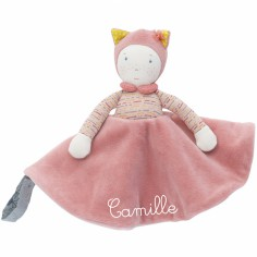 Doudou attache t�tine Mademoiselle et Ribambelle personnalisable - Moulin Roty