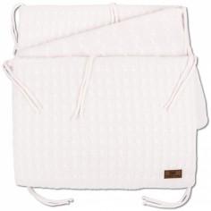 Tour de lit Cable Uni rose classique (pour lit 60 x 120 cm) - Baby's Only