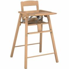 chaise haute volutive en bois timba grise avec coussin. Black Bedroom Furniture Sets. Home Design Ideas