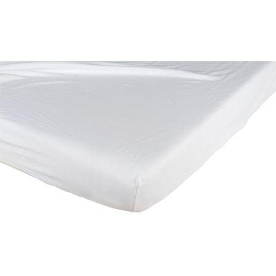 drap housse blanc 60 x 120 cm candide berceau magique. Black Bedroom Furniture Sets. Home Design Ideas