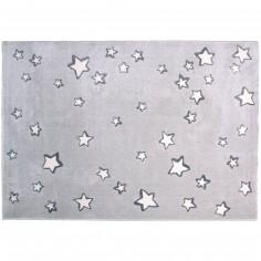 Tapis enfant Sweet dream gris �toiles blanches (120 x 170 cm) - Nattiot