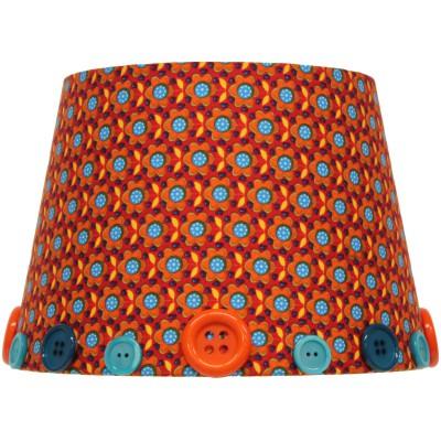 abat jour retro vintage orange pour lampe 20 x 15 cm. Black Bedroom Furniture Sets. Home Design Ideas