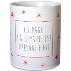 Mug �toiles rouge (personnalisable) - Les Griottes