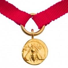 Bracelet Eph�se rouge (or jaune 750�) - La Monnaie de Paris